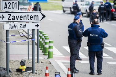 Policie u letiště Zaventem