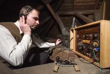 Replika vysílačky Libuše