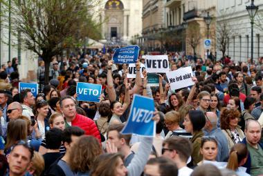 Protest proti zákonu o zahraničních školách