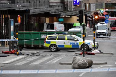 Místo útoku ve Stockholmu