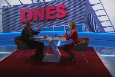 Andrej Babiš v Interview ČT24
