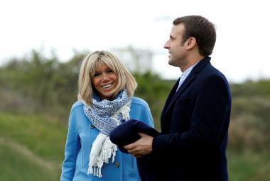 Emmanuel Macron a Brigitte Trogneuxová