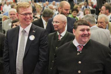 Pavel Bělobrádek a Bernd Posselt