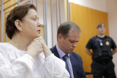 Natalja Šarinová u soudu