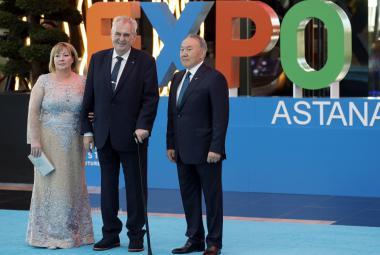 Prezident Zeman otevřel na výstavě Expo v Astaně český pavilon