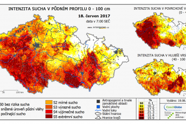 Aktuální mapa sucha