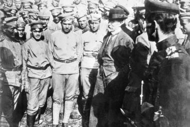 Prezident Masaryk s československými dobrovolníky