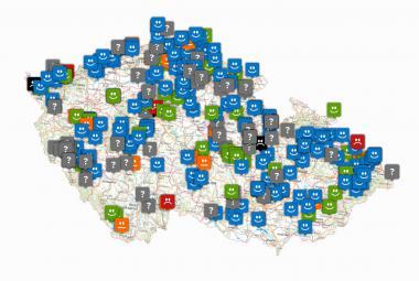 Mapa Koupací vody