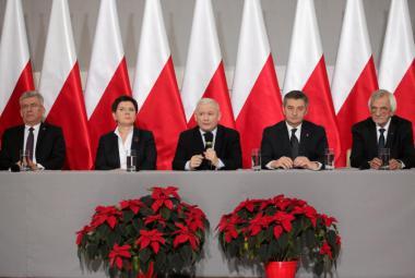 Přední činitelé polské vládní strany Právo a spravedlnost