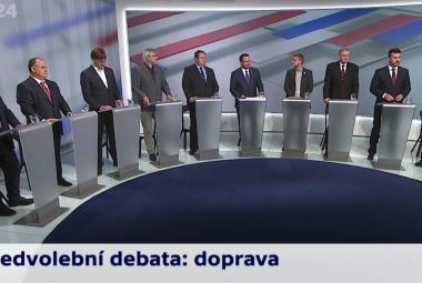 Účastníci předvolební debaty 18. září