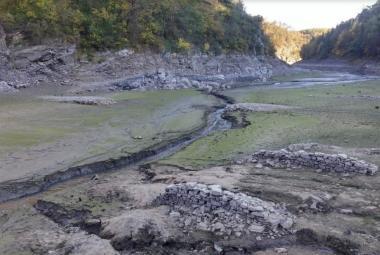 Dno Vranovské přehrady