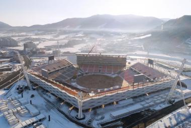 Hlavní stadion pro zimní olympijské hry 2018