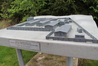 Model tábora v Letech u Písku