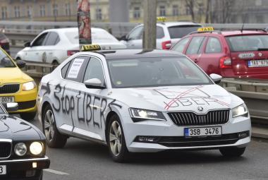 Protest taxikářů