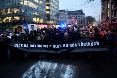 Bratislavský pochod na památku Kuciaka a jeho snoubenky