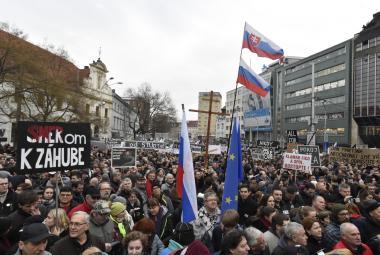 Demonstrace v Bratislavě