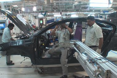 Výroba vozů Škoda v Indii