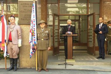 Vzpomínková akce k výročí Pražského povstání před rozhlasem