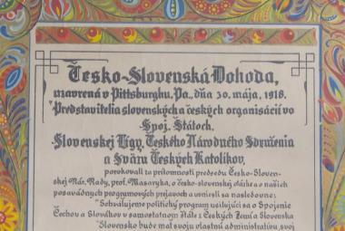 """Sto let od Pittsburské dohody. Až dokument podepsaný v """"největším slovenském městě"""" Wilsona přesvědčil"""