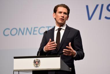 Rakouský kancléř Kurz na summitu s premiéry zemí V4