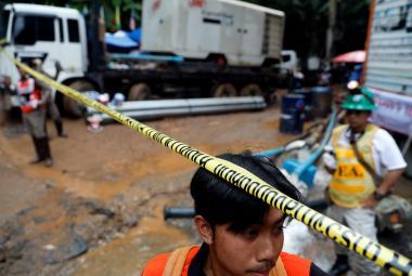 Záchrana chlapců z thajské jeskyně