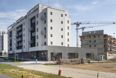 Stavba bytů v Plzni