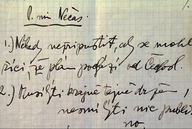 Pokyny Edvarda Beneše pro ministra Jaromíra Nečase
