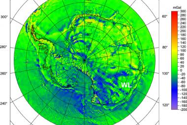 Největší kráter způsobený dopadem meteoritu je pod ledem Antarktidy, tuší čeští vědci