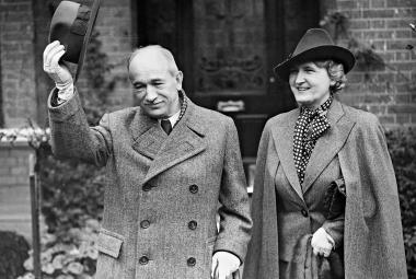 Edvard Beneš a jeho žena Hana v londýnském exilu, 1938