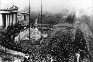 Vyhlášení první rakouské republiky 12. listopadu 1918
