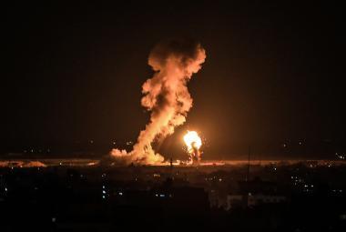Izraelské nálety na palestinské cíle v Pásmu Gaza