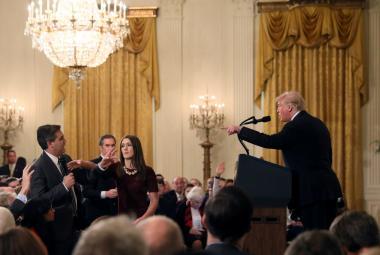 Donald Trump a Jim Acosta