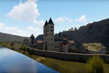 Jako skutečný. Čeští experti vytvořili 3D rekonstrukci ostrovního kláštera u Davle