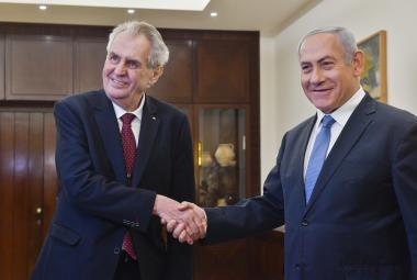 Prezident Zeman se setkal s izraelským premiérem Netanjahuem