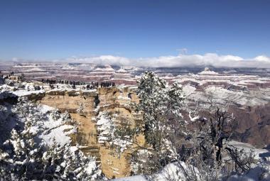 Nasněžilo i v Grand Canyonu