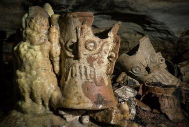 Archeologové objevili Jeskyni jaguářího boha. Leží pod mayským městem Chichén Itzá