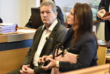 Vladimír Březina a Stanislava Březinová u soudu