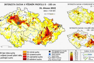 Sucha hrozí už v květnu nebo červnu. Rezerva vody v půdě je výrazně nižší než loni, varuje expert