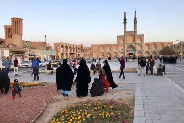 Komplex Amir Chakhmagh v íránském pouštním městě Jazd