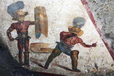 Krvavý gladiátorský zápas starý dva tisíce let. V Pompejích našli zatím neznámou fresku