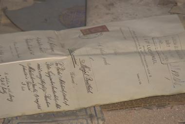 Unikátní korespondence nebo rozpis služeb hlídačů. V Terezíně se našly věci z židovského ghetta