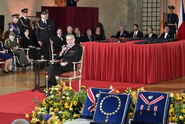 Udílení státních vyznamenání ve Vladislavském sále
