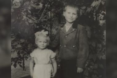 Maria Pekařová s bratrem