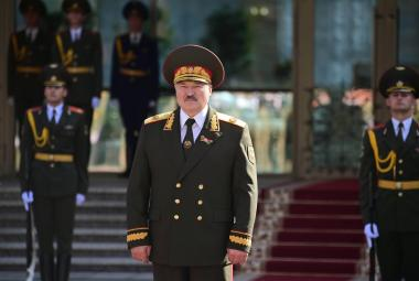 Alexandr Lukašenko během inaugurace