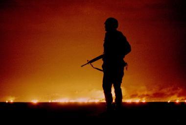 """""""Nebe nad Bagdádem září."""" Před 30 lety vypukla operace Pouštní bouře. Saddám měl čtvrtou největší armádu světa, přesto byly spojenecké ztráty minimální"""