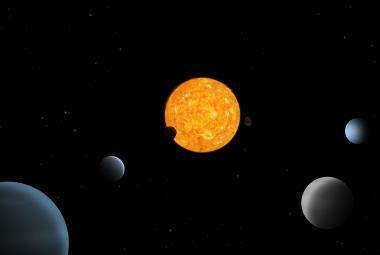 Astronomové pozorovali kosmický balet pěti planet kolem oranžového trpaslíka