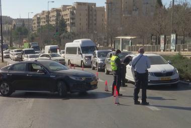 Lockdown podle Izraele: Omezení pohybu, zákaz návštěv i policejní kontroly