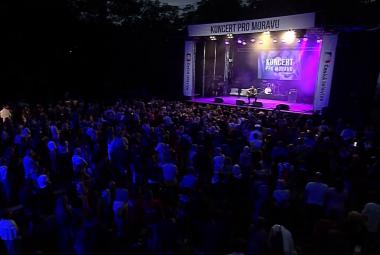 ČT uspořádala Koncert pro Moravu. Lidé zaslali jen skrze DMS přes 11 milionů korun