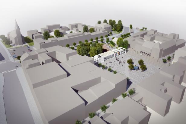 Náměstí Míru ve Zlíně se má zmenšit, na jižní straně mohou vyrůst nové domy