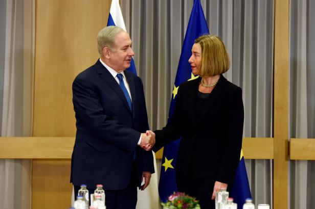 V EU Netanjahu narazil. S Mogheriniovou se na postoji vůči Jeruzalému neshodl